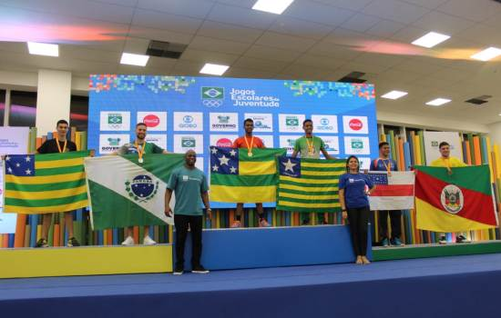 Vieira, Oliveira, Fernando, Isabelle, alunos, Projeto, Jogos, disputaram, Escolares, competição, Juventude, vindos, Junior, Escola, Desembarcaram, cidade, Badminton, Natal