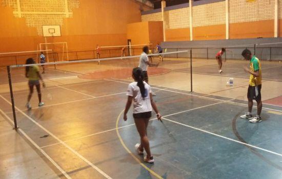 atletas, Etapa, segunda-feira, nesta, treinos, motivo, intensificaram, competição, pensando, entram, Nacional, menos, Badminton, ASBAGDI, últimos, pouco, preparação
